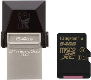 Kingston випускає флешки DataTraveler microDuo 3.0 і карти пам'яті microSDHC/SDXC Class 10 UHS-I для мобільних пристроїв