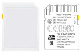 Toshiba THNSW008GAA-B (QB6) – карта пам'яті SDHC з бездротовим інтерфейсом і web-сервером